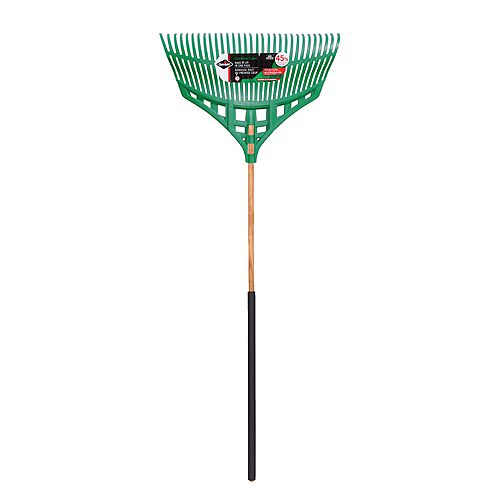 Ultra-Light 30-inch Leaf Rake with Wood Handle with Comfort Grip