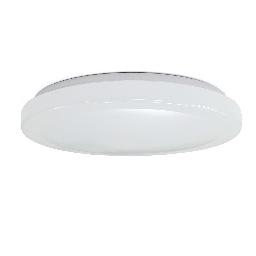 Commercial Electric Luminaire encastrable à DEL encastré rond blanc de 11 pouces, 4 couleurs, changement de couleur sélectionnable CCT