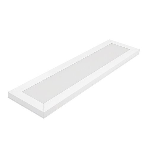 6 inch x2 ft. White integrated LED Flat Panel Troffer Light Fixture 4-Way Selectable Color Temperatures