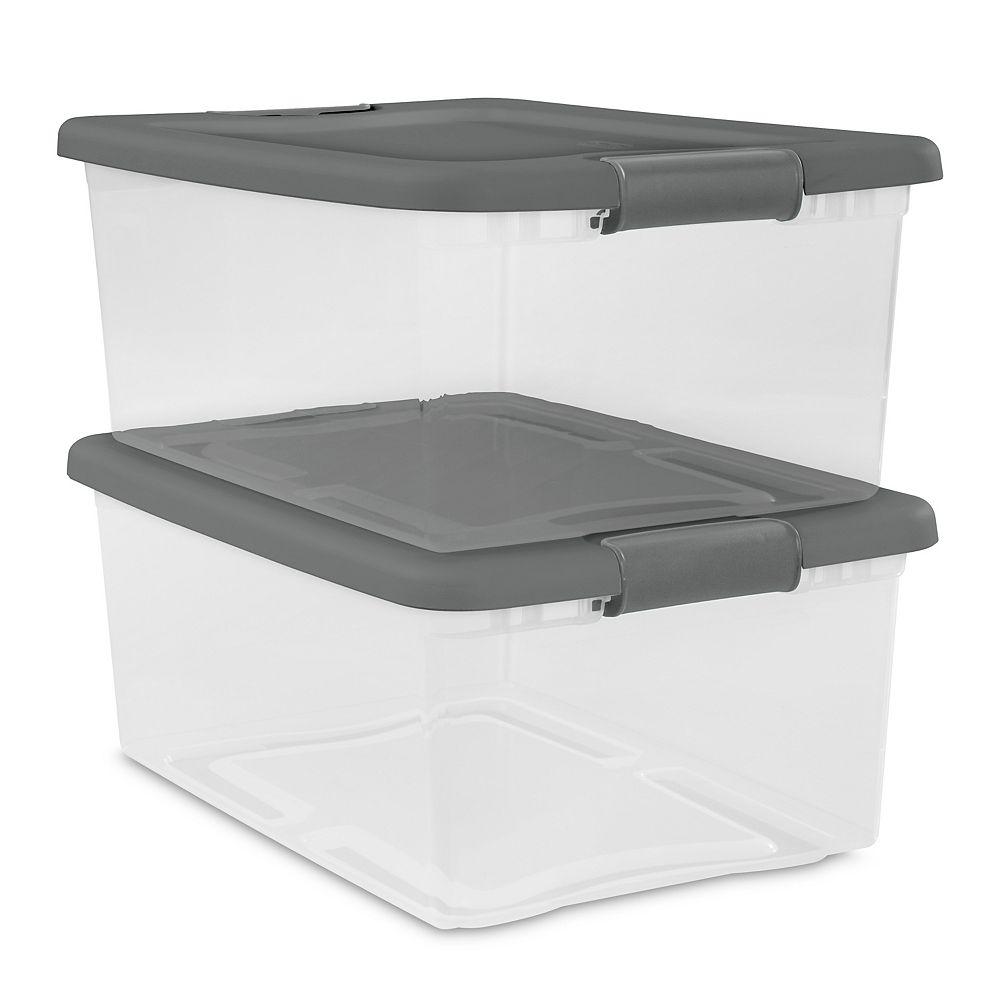 Sterilite 14L Latching Box (Set of 2)