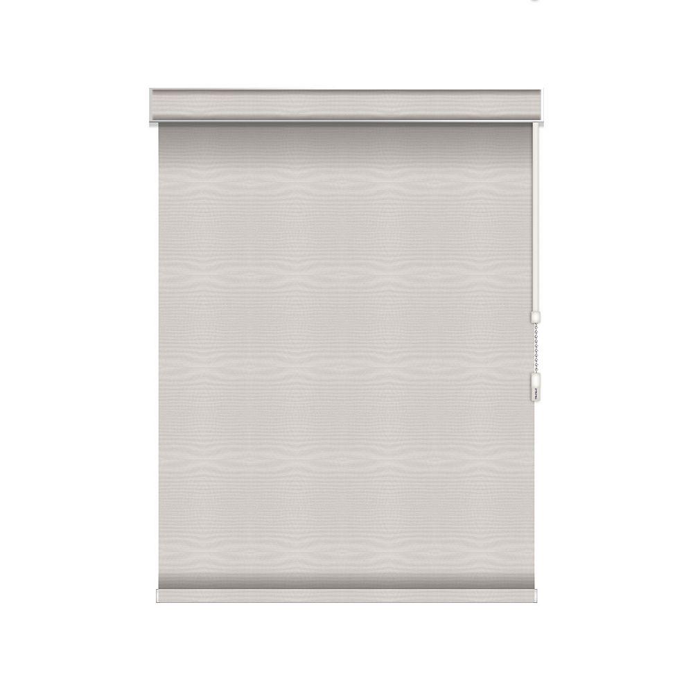 Sun Glow Tissue Opaque Toiles à Rouleau - à Chaîne avec Cantonnière - 33.25-po X 36-po en Glace
