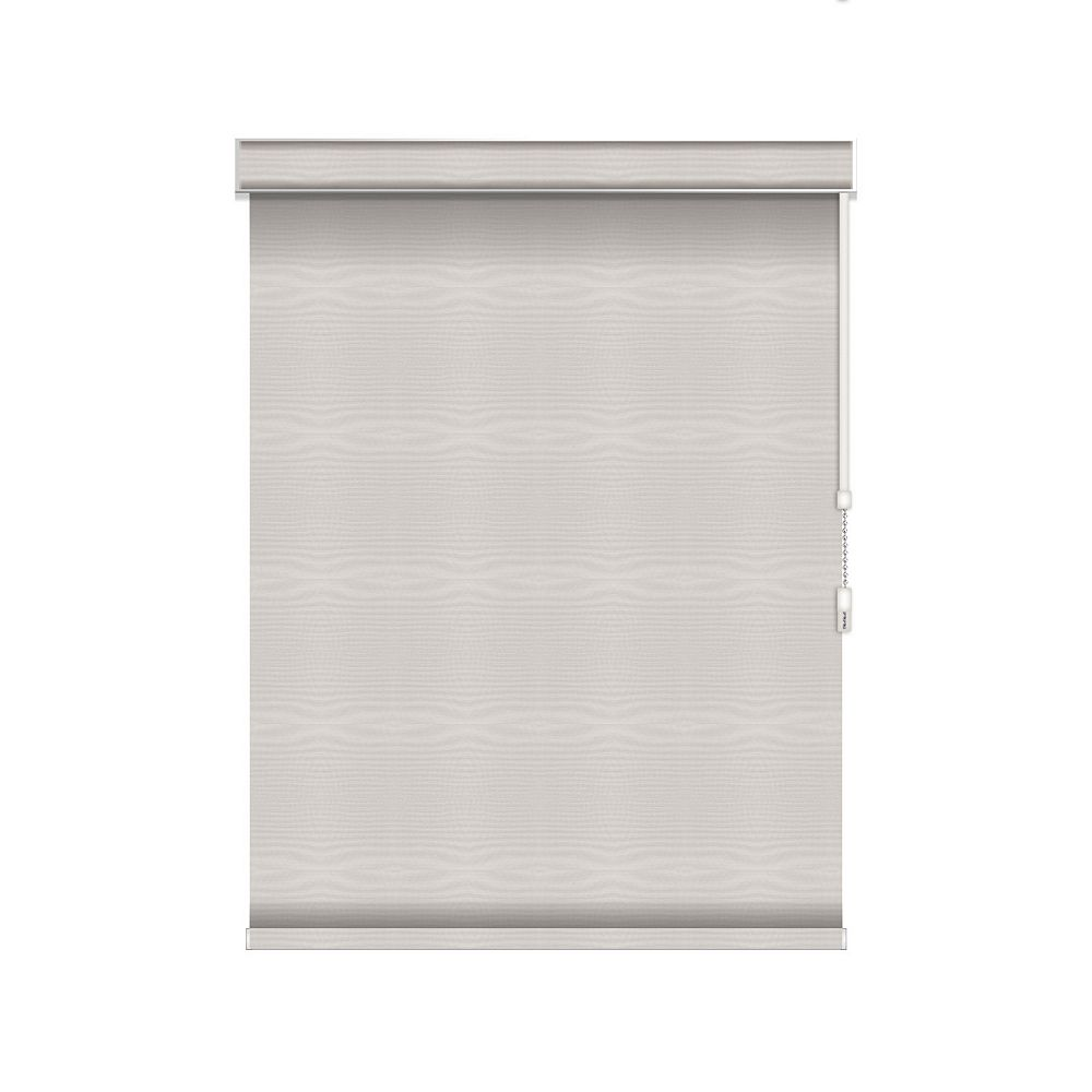 Sun Glow Blackout Roller Shade - Chain Operated with Valance - 33.25-inch X 84-inch in Ice