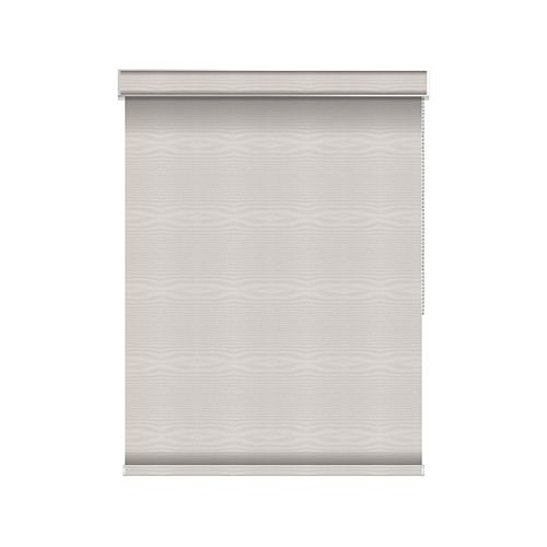Sun Glow Blackout Roller Shade - Chain Operated with Valance - 56.5-inch X 84-inch in Ice