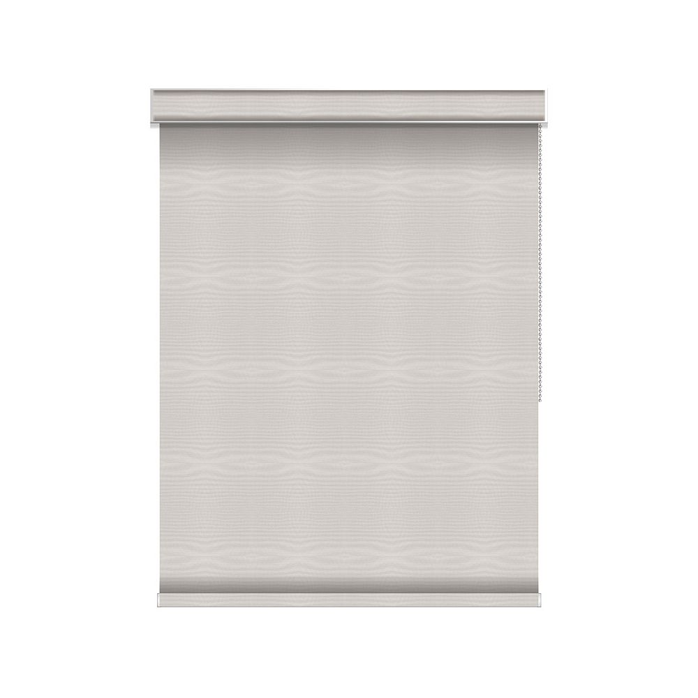 Sun Glow Blackout Roller Shade - Chain Operated with Valance - 63.75-inch X 84-inch in Ice