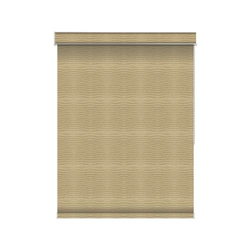 Sun Glow Blackout Roller Shade - Chain Operated with Valance - 35.25-inch X 36-inch in Champagne