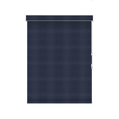Sun Glow Tissue Opaque Toiles à Rouleau - à Chaîne avec Cantonnière - 57.5-po X 36-po en Marine