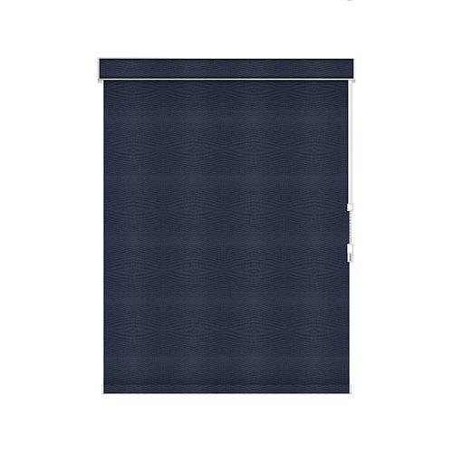 Sun Glow Blackout Roller Shade - Chain Operated with Valance - 76.25-inch X 60-inch in Navy