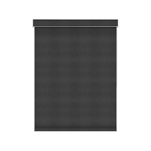 Sun Glow Blackout Roller Shade - Chain Operated with Valance - 68-inch X 36-inch in Denim