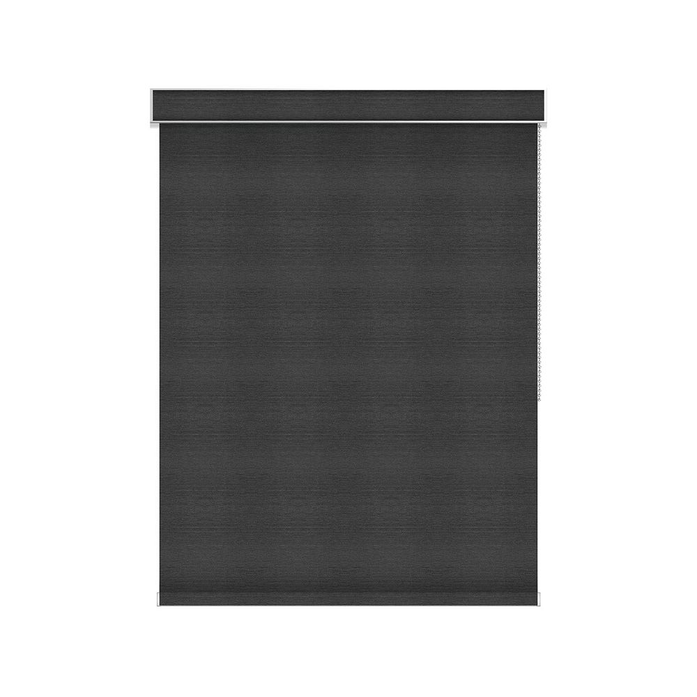 Sun Glow Blackout Roller Shade - Chain Operated with Valance - 27.75-inch X 60-inch in Denim