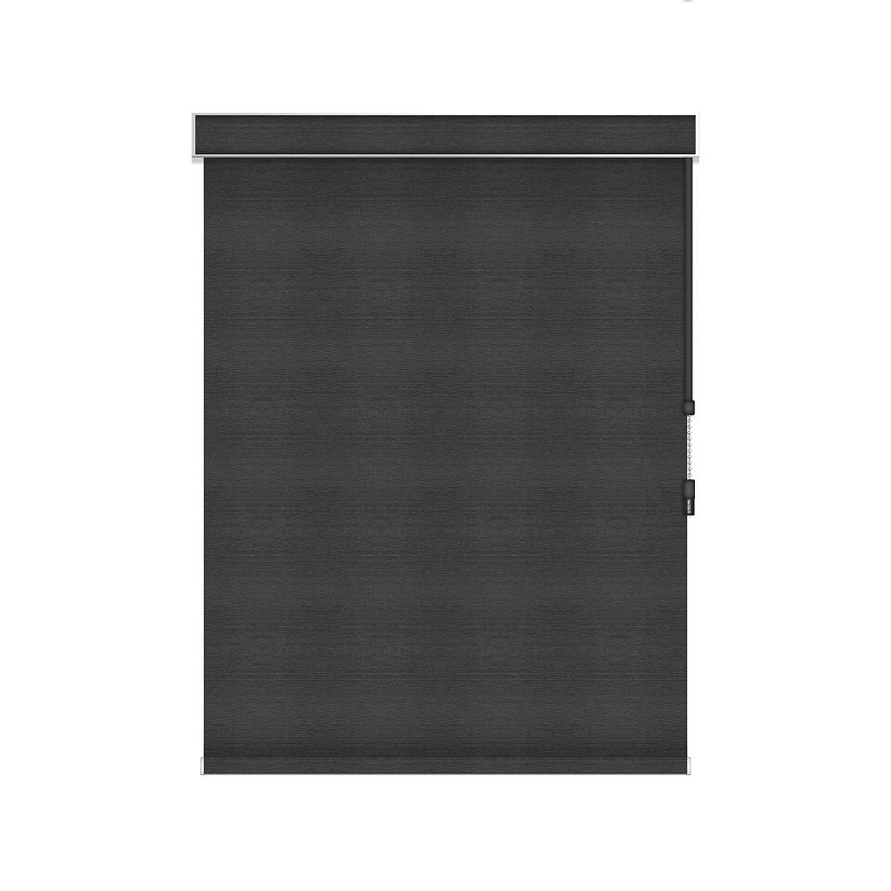 Sun Glow Blackout Roller Shade - Chain Operated with Valance - 25.25-inch X 84-inch in Denim