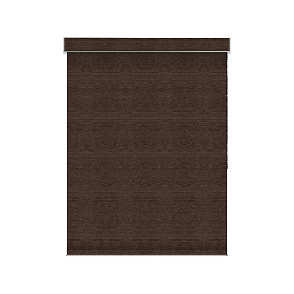 Sun Glow Blackout Roller Shade - Chain Operated with Valance - 34.5-inch X 36-inch in Cinder
