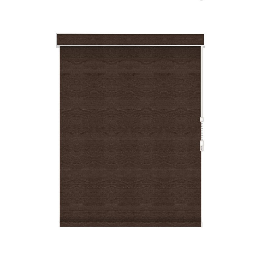 Sun Glow Blackout Roller Shade - Chain Operated with Valance - 32-inch X 60-inch in Cinder