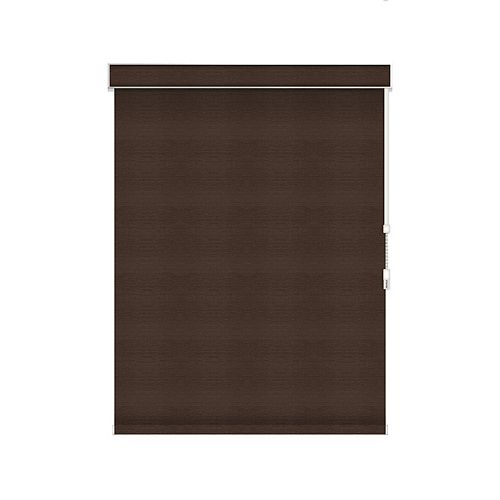 Sun Glow Blackout Roller Shade - Chain Operated with Valance - 55-inch X 60-inch in Cinder