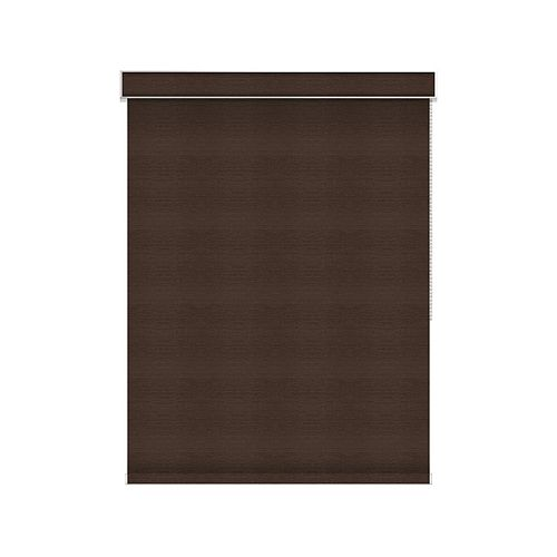 Sun Glow Blackout Roller Shade - Chain Operated with Valance - 68.25-inch X 60-inch in Cinder