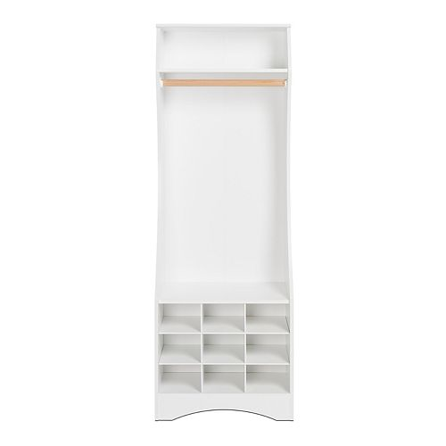 Compact Wardrobe with Shoe Storage, White