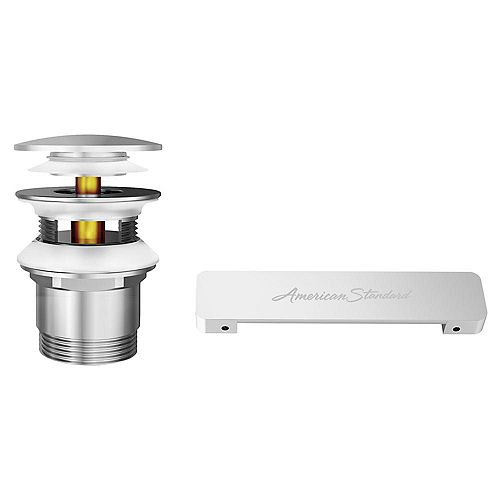 American Standard Free Standing Tub Overflow Cover And Drain Kit in Brushed Nickel