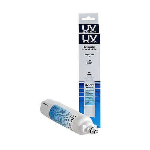 UV Corp 34801  LG LT800P, ADQ73613401 Replacement Refrigerator Water & Ice Filter