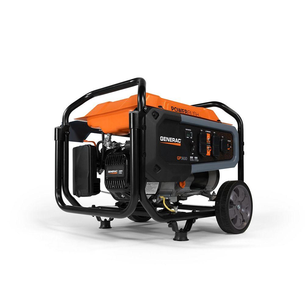 Generac GP 3600-Running Watts Portable with Wheel Cart Generator