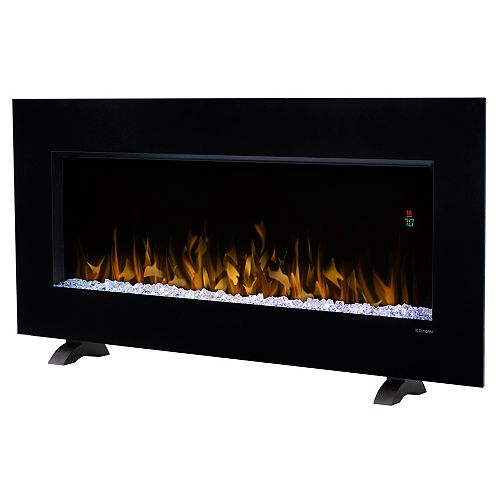 Nicole 43-inch Wall-Mount Electric Fireplace in Black