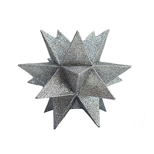 WW 10 inch Silver Glitter Star Tree Topper