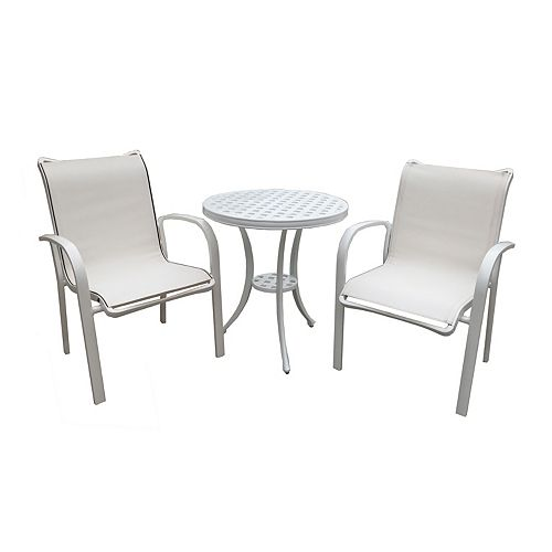 Felicity 3pcs Bistro Set (White)