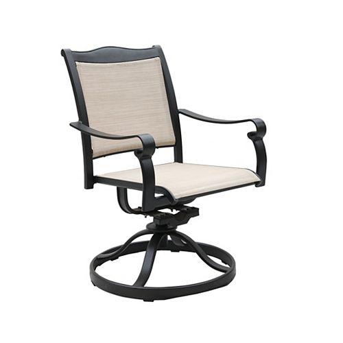 Devon Sling Swivel Rocker chair