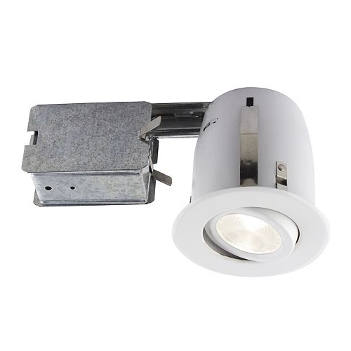 4-inch White Recessed LED Lighting Kit with PAR20 Bulb Included