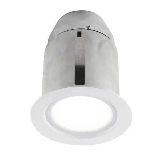 4-inch White Integrated LED Recessed Fixture Kit for Damp Locations