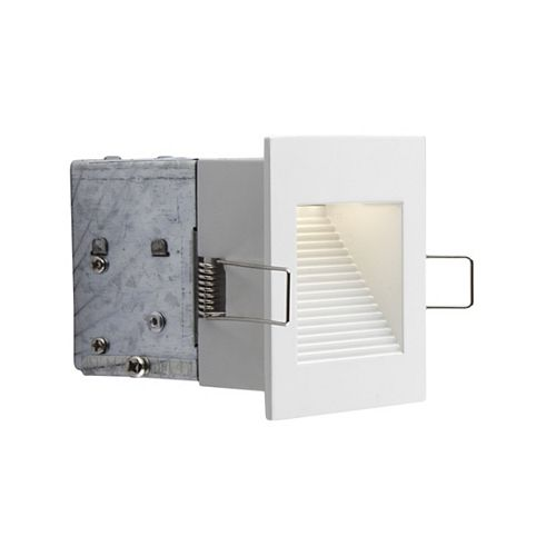 Matte White Integrated LED Wall Recessed Fixture Kit