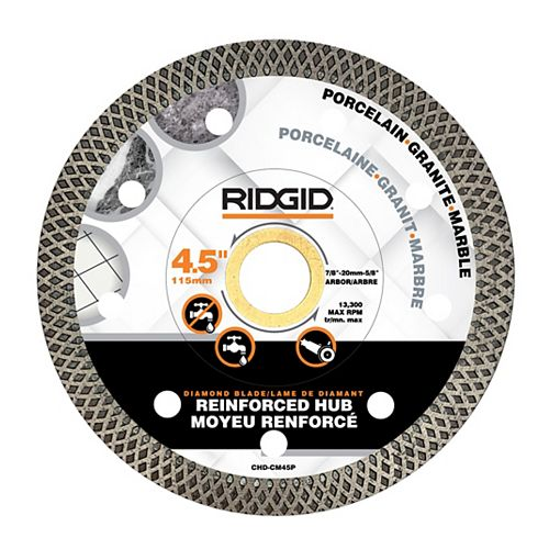 4.5-inch Continuous Rim Diamond Blade with Mesh Rim