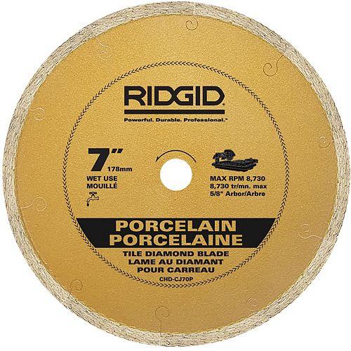 7-inch Continuous Rim Porcelain Diamond Blade