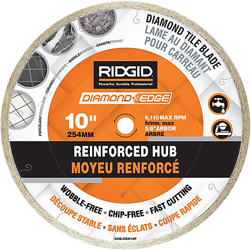 10-inch Continuous Rim Diamond Blade with Reinforced Hub