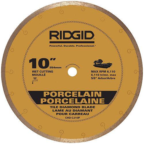 RIDGID 10-inch Continuous Rim Porcelain Diamond Blade