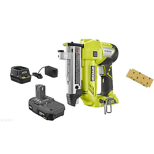 18V ONE+ Lithium-Ion Cordless AirStrike 23ga 1-3/8-inch Headless Pin Nailer Kit w/Battery and Charger
