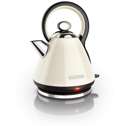 BLACK+DECKER Heritage 1.7L Kettle In Cream