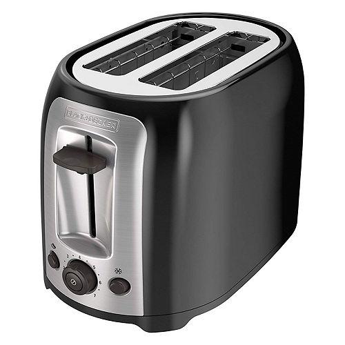 2 Slice Black Toaster