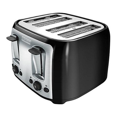 4 Slice Black Toaster