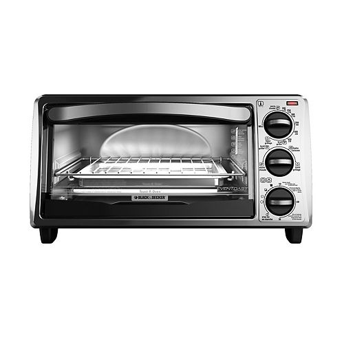 BLACK+DECKER Silver And Black Toaster Oven