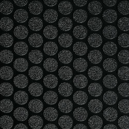 G-Floor 8.5 ft. x 24 ft. Small Coin Midnight Black Garage Floor Cover and Protector