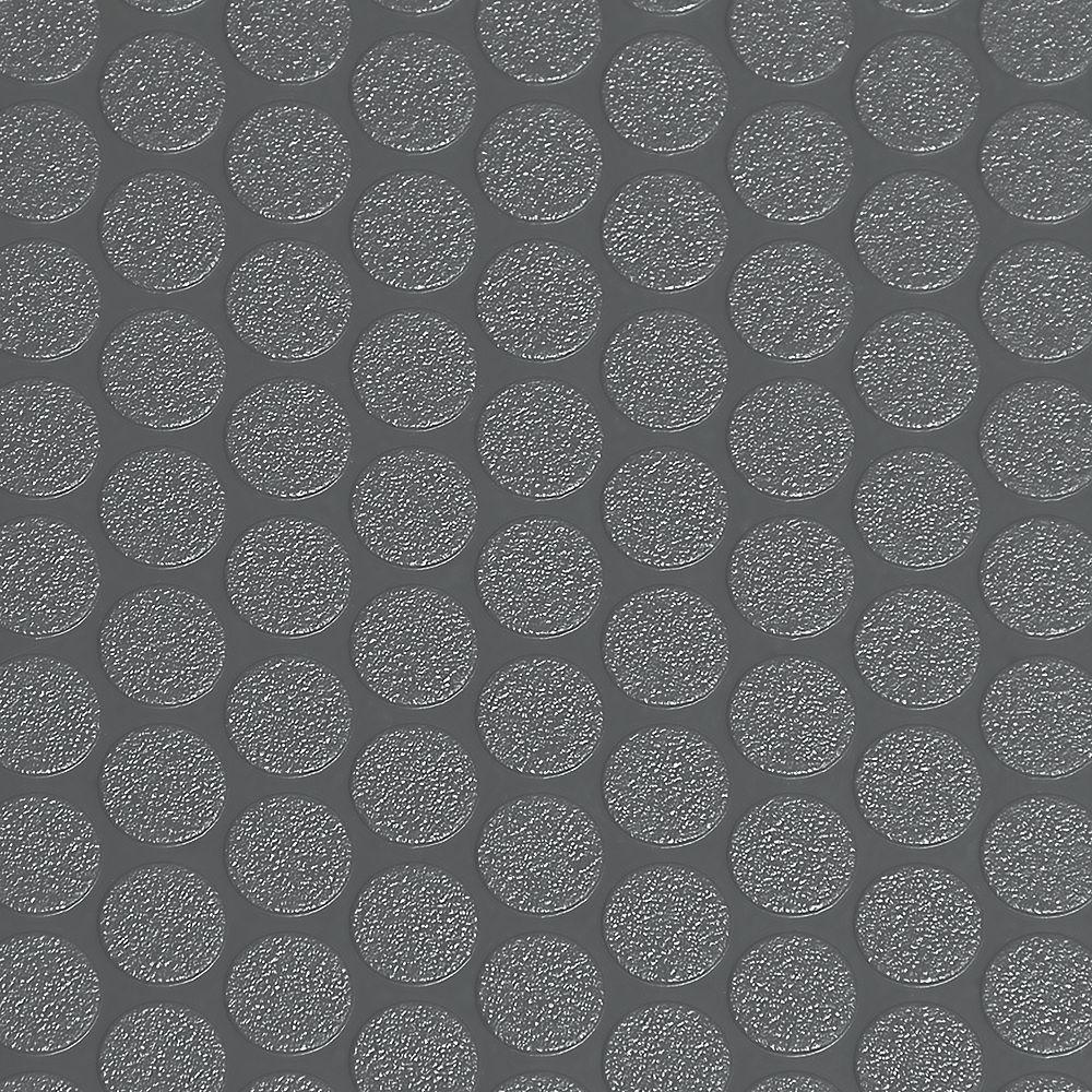 G-Floor Revêtement protecteur pour sols de garage de qualité commerciale Small Coin, 10 pi x 24 pi, vinyle, gris ardoise
