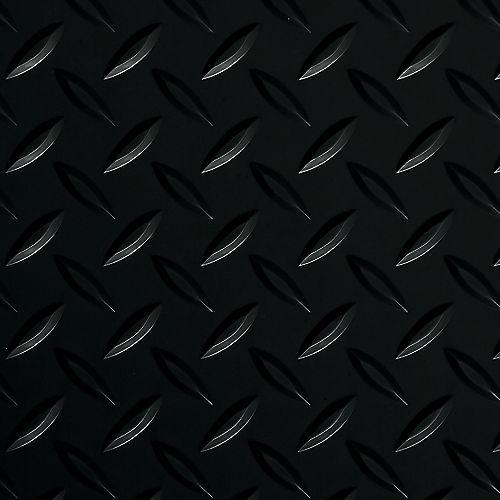 G-Floor 8.5 ft. x 22 ft. Diamond Tread Midnight Black Commercial Grade Garage Floor Cover and Protector
