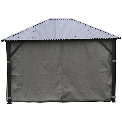 Charcoal side curtains for all Corriveau Gazebo - 10 x 12