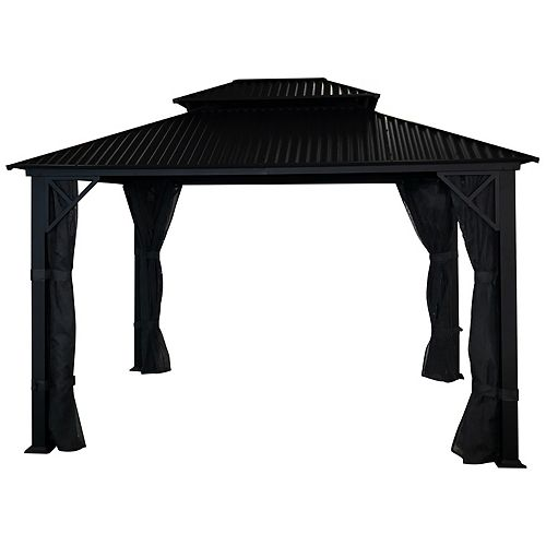 Metropolis 10 ft. x 12 ft. Gazebo with Galvalume Roof