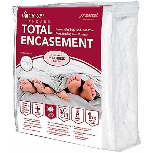 Bed Bug Lock-Up Total Encasement Mattress Cover, Queen