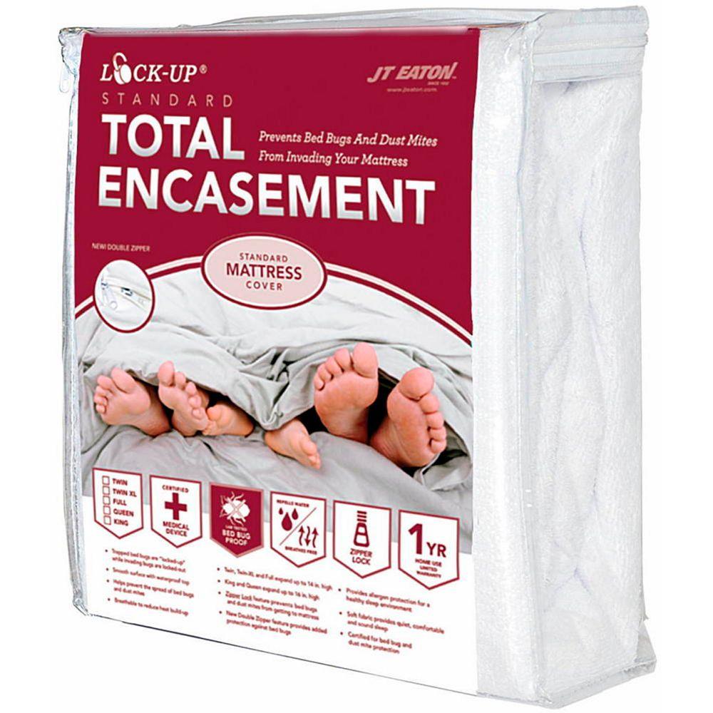 J T Eaton And Co Inc Couvre-matelas complètement enveloppant bed bug lock-up de jt eaton, grand lit