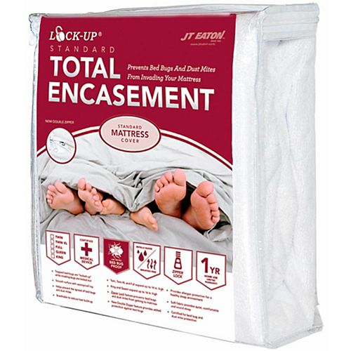 Bed Bug Lock-Up Total Encasement Mattress Cover, Queen (6-pack)