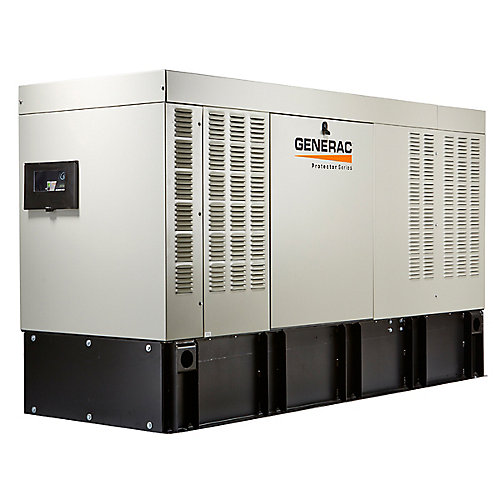 50,000-Watt 120/240V Three Phase Automatic Standby Diesel Generator with Extended Steel Tank