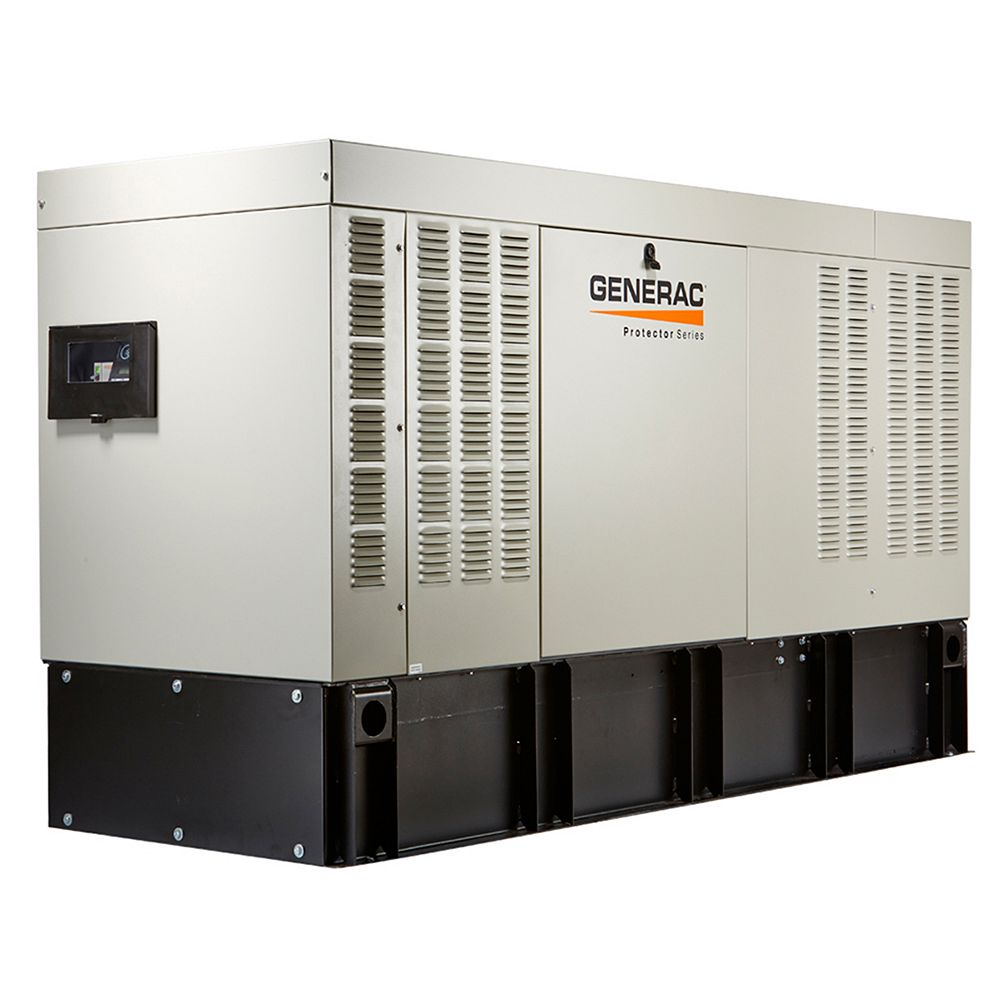 Generac 50,000W 277/480V Three Phase Automatic Standby Diesel Generator with Extended Steel Tank