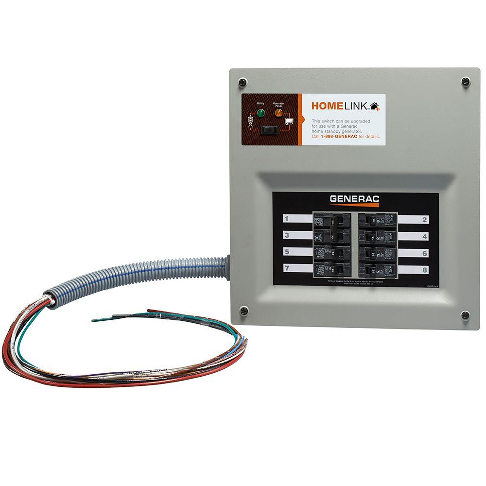 Generac 30 Amp HomeLink MTS, 8-10 circuits, flush or surface mount, NEMA 1