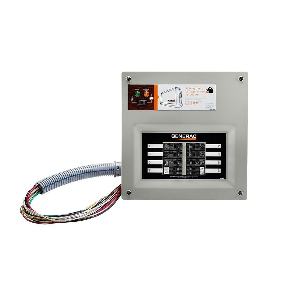 Generac 50 amp HomeLink MTS, 10-16 circuits, montage encastré ou en saillie, NEMA 1